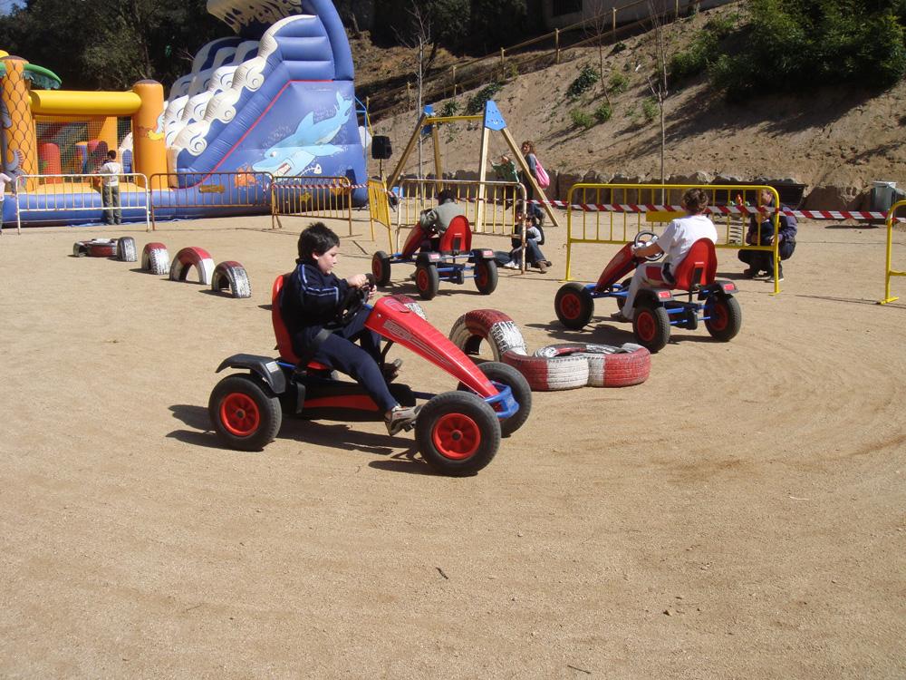 Circuit de karts a pedals