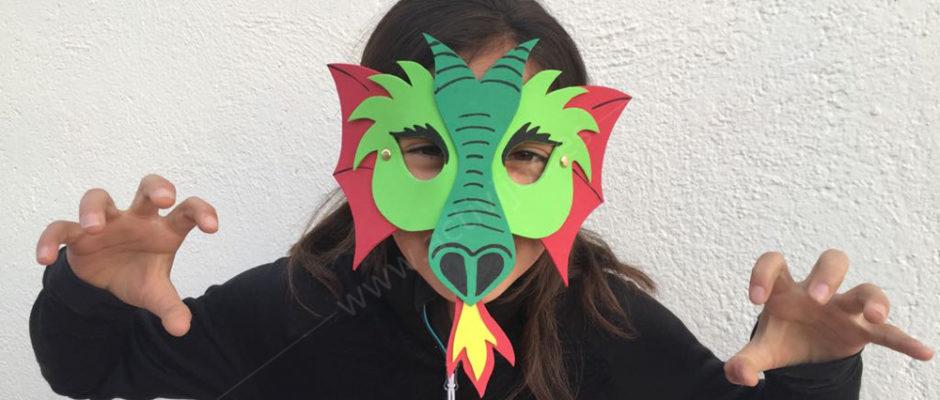 Taller màscares de Sant Jordi