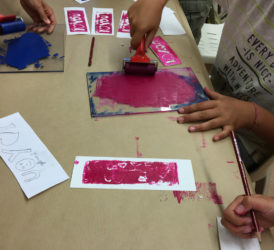 Taller punt de llibre amb litografia