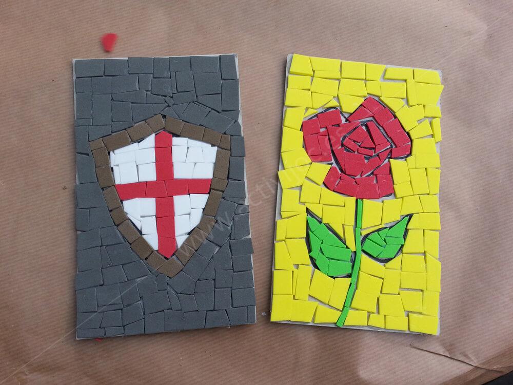 Taller de mosaics Sant Jordi